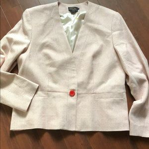 Pendleton Boucle COLLARLESS ONE BUTTON BLAZER